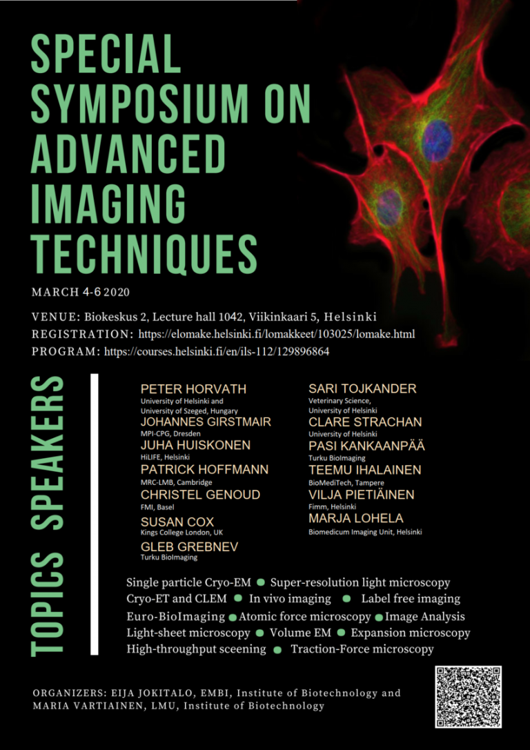Special Symposium on Advanced Imaging Techniques