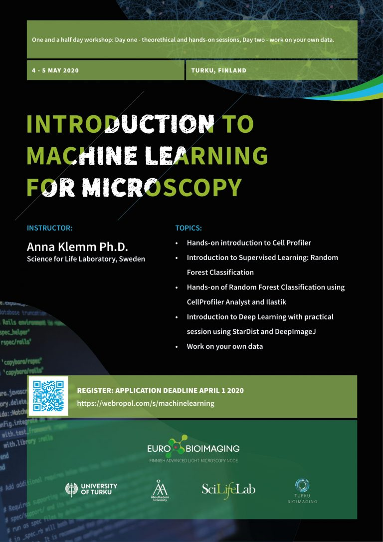 Introduction to Machine Learning for Microscopy
